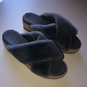 Sam Edelman Fur Slides